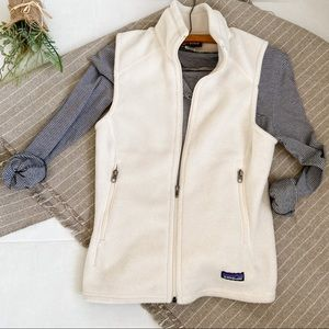 Patagonia Synchilla Fleece Vest Cream XS full zip